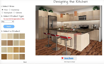 Create your virtual kitchen virtual room virgo how to for Virtual flooring app